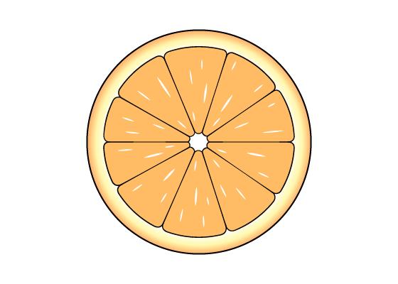 Orange slice drawing tutorial