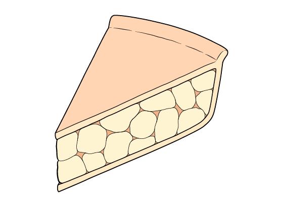 Pie slice drawing
