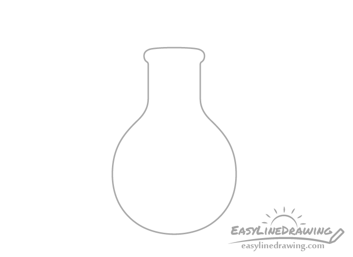 Potion bottle neck drawing