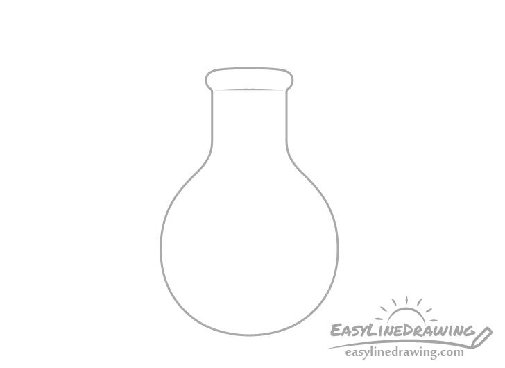 Potion bottle rim drawing