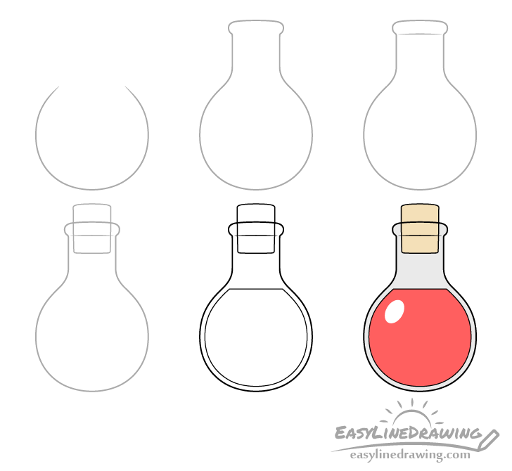 Potion drawing step by step