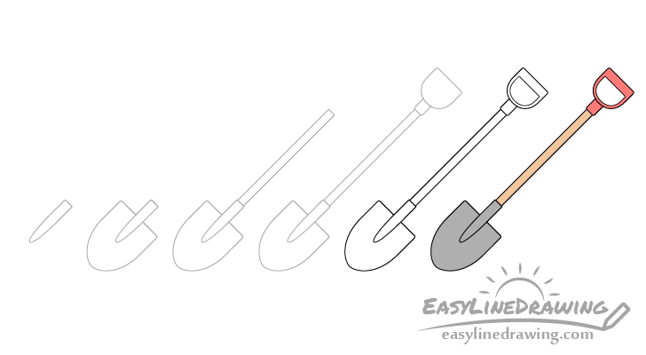Shovel drawing step by step