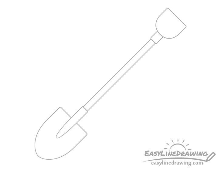 Shovel handle outline drawing