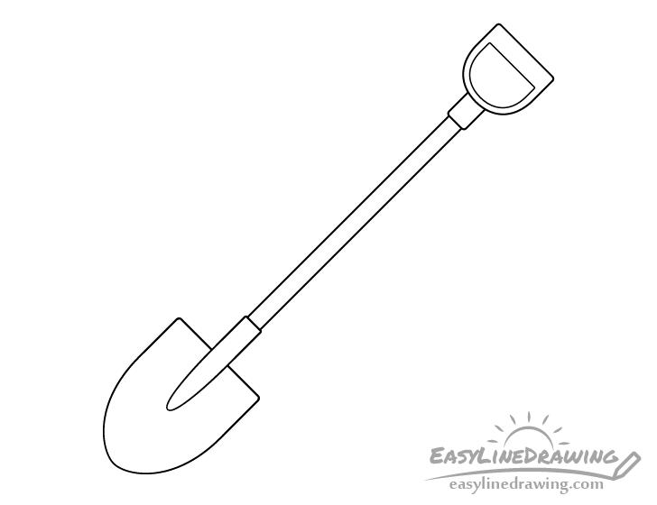 Shovel line drawing