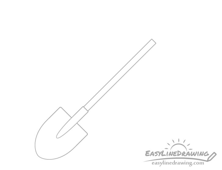 Shovel shaft drawing