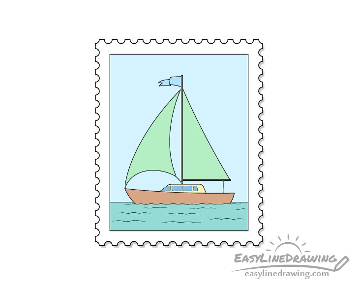 Stamp drawing
