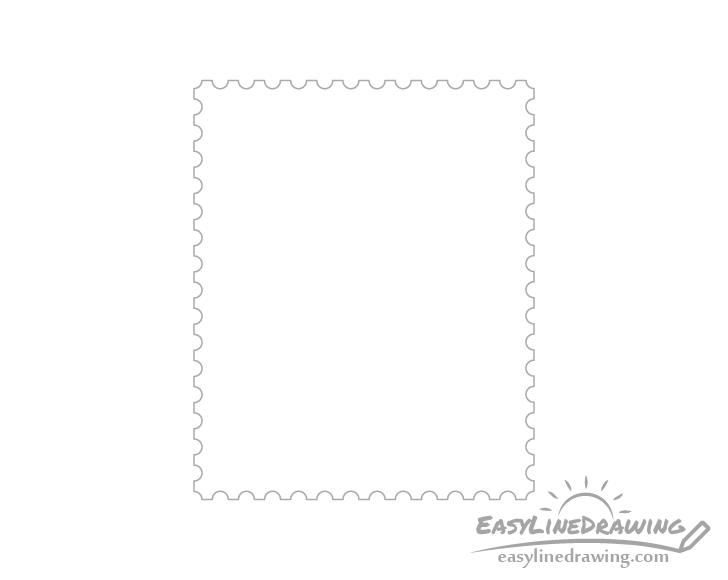 Stamp outline drawing