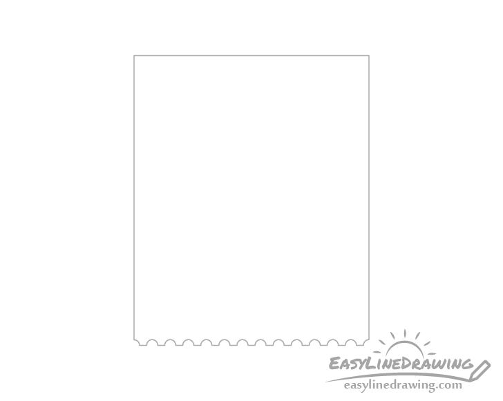 Stamp perforations drawing