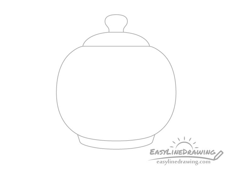 Teapot knob drawing