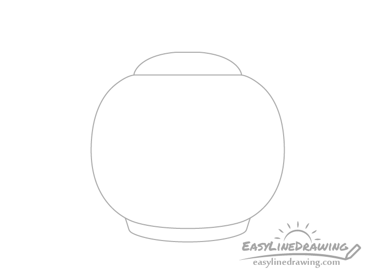 Teapot lid and base drawing
