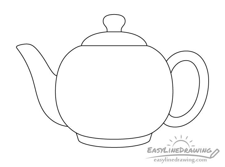 Teapot line drawing