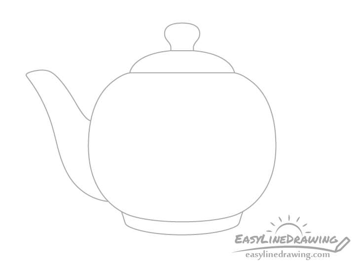 Teapot snout drawing
