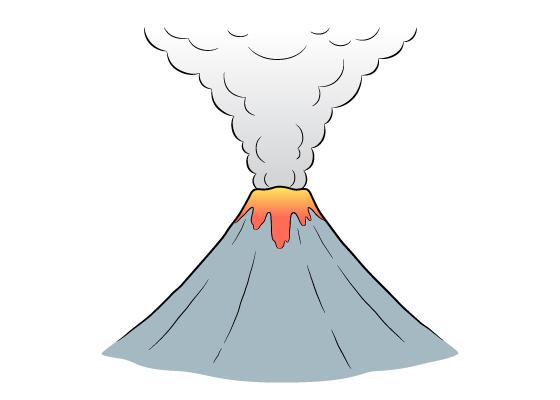 Volcano drawing tutorial